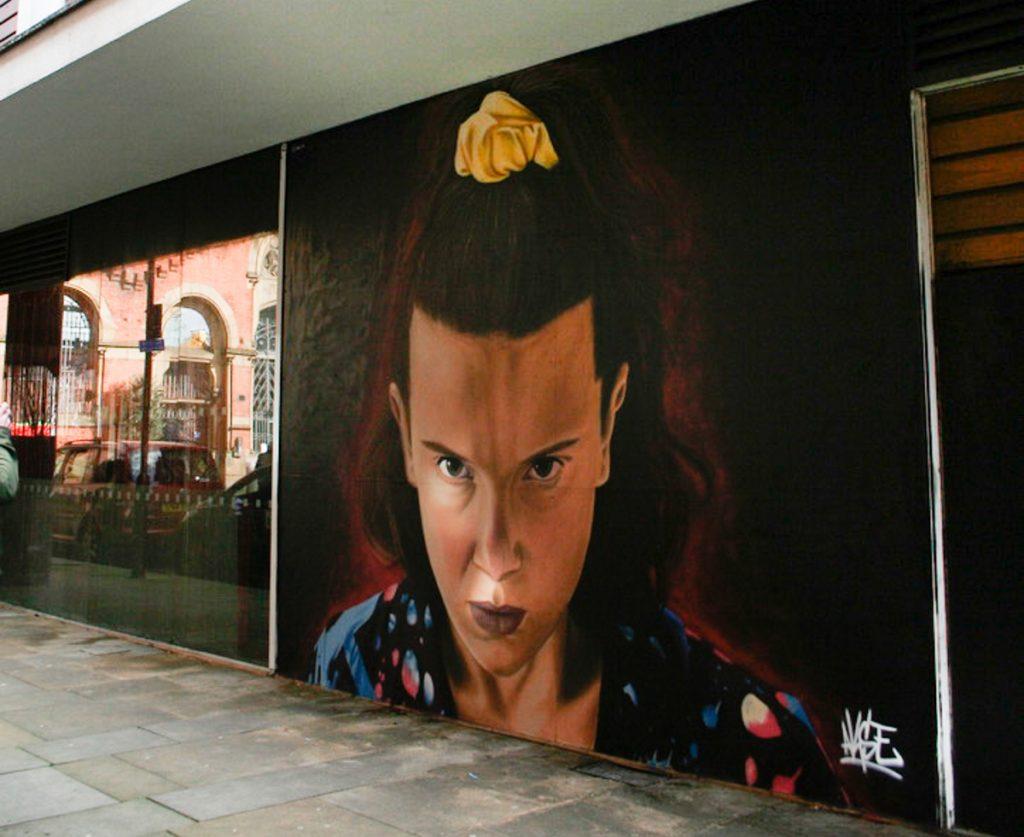 Mural of stranger things in Manchester