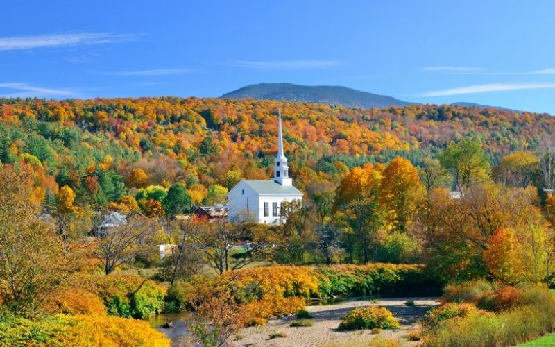Beautiful town Stowe Vermont