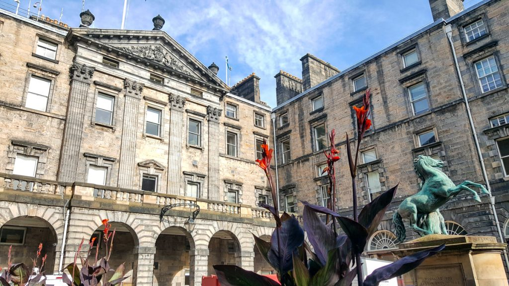 Royal Mile in Edinburgh Scotland