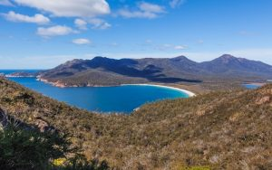 Visiting Wineglass Bay in Freycinet