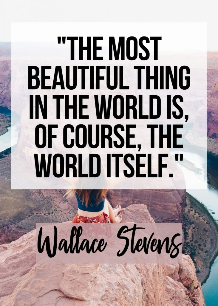 Best travel quote by Wallace Stevens