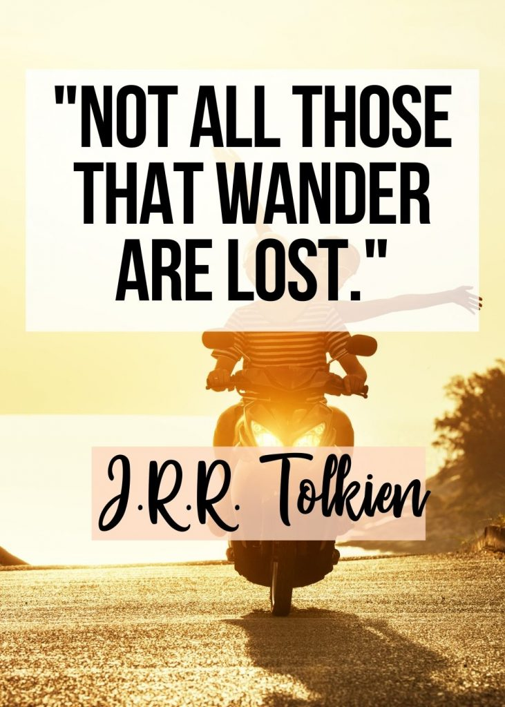 Best quote about backpacking from Tolkien