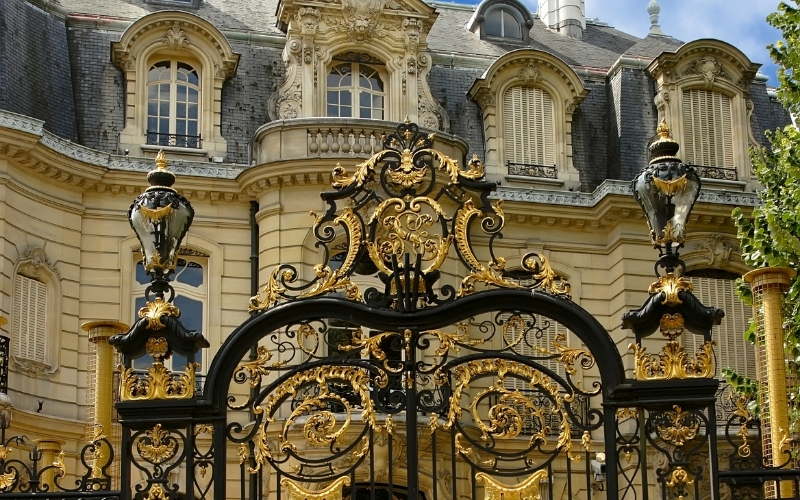 Front of the Elysee Palace in Paris