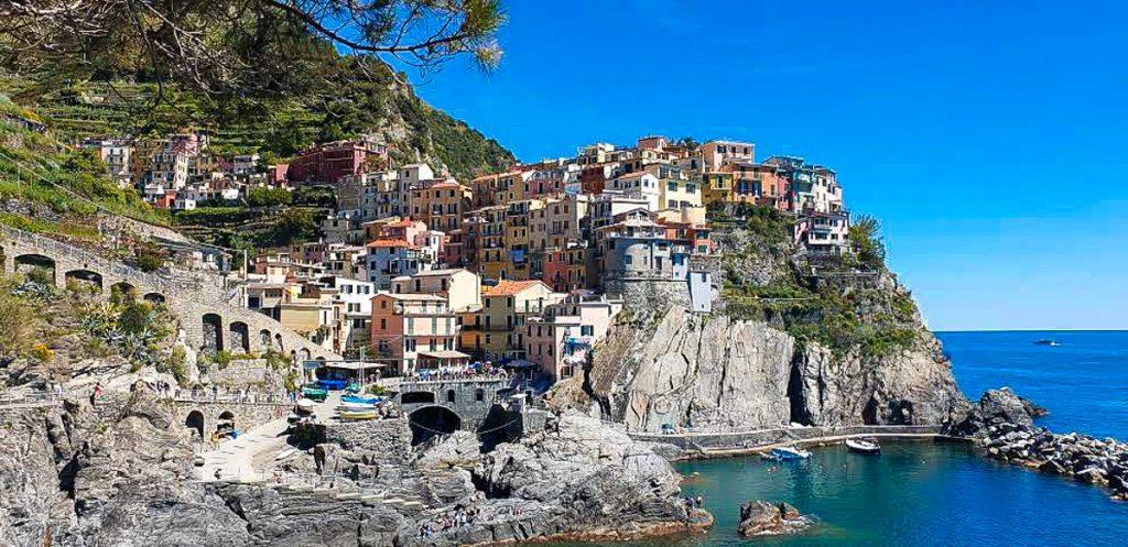 Beautiful town of Manarola in Cinque Terre Italy