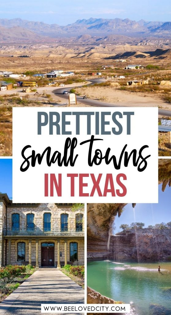 Beautiful small towns in Texas USA