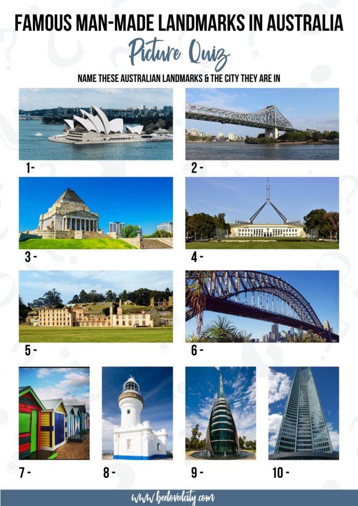Man made Australian Landmarks in Australia