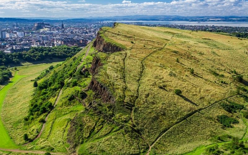 View of Arthur's Seat in Edinburgh