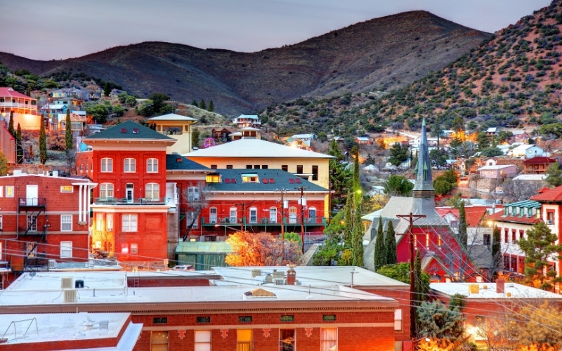 Small town of Bisbee in Arizona