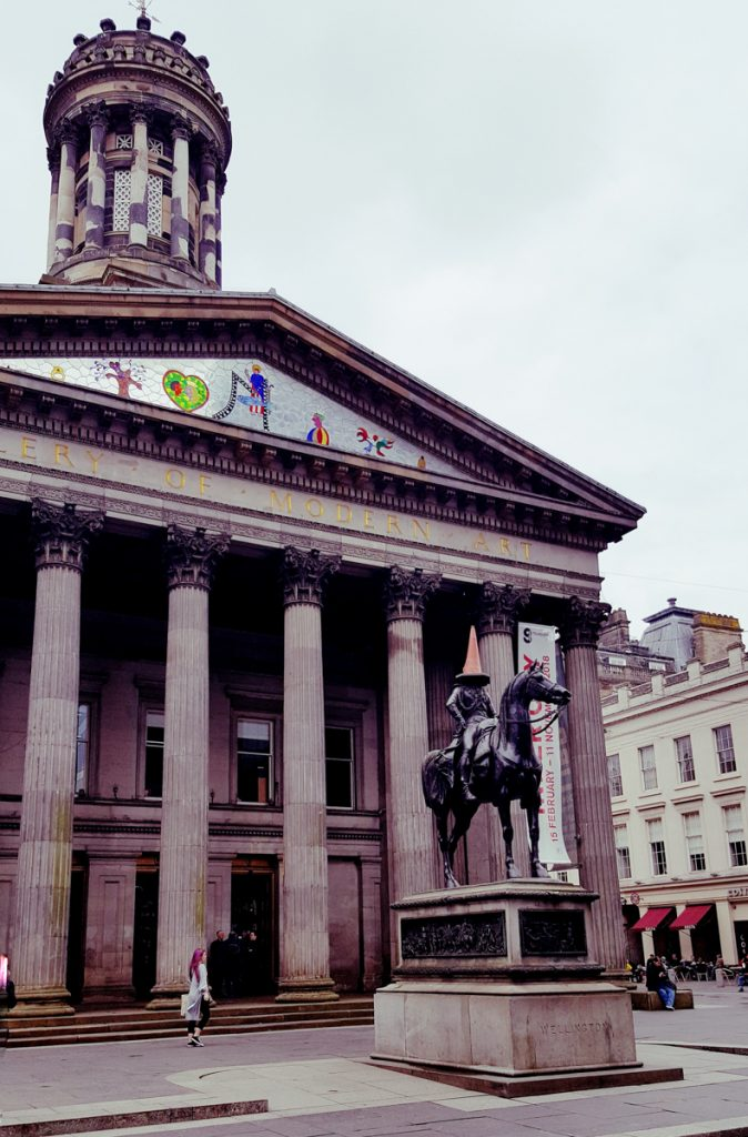Equestrian statue of the Duke of Wellington in Glasgow