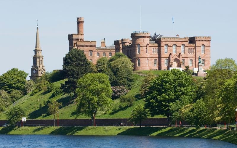 Inverness Castle in Scotland