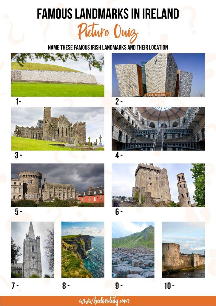 Famous Irish landmarks Picture Quiz