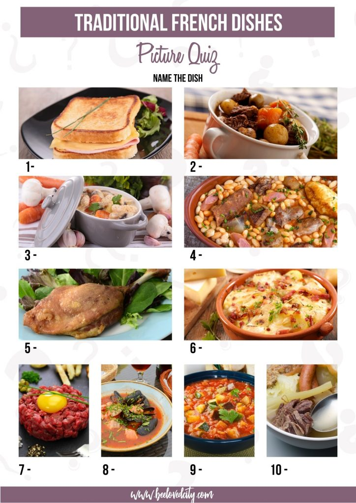 French food Picture Quiz