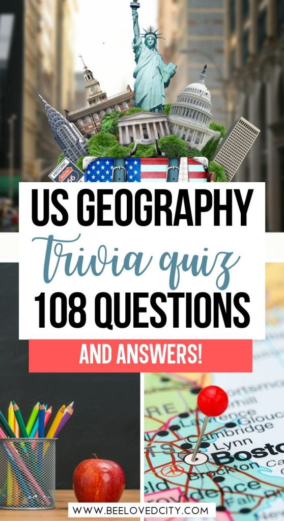 American Geography Quiz Questions and Answers