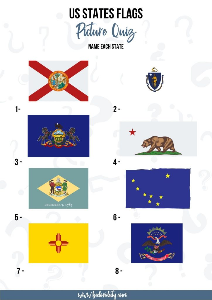 US States Flags Quiz Questions