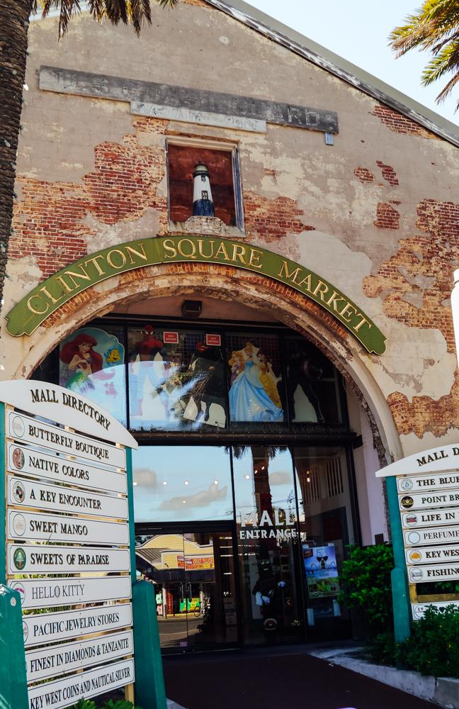 Key west old town clinton square market