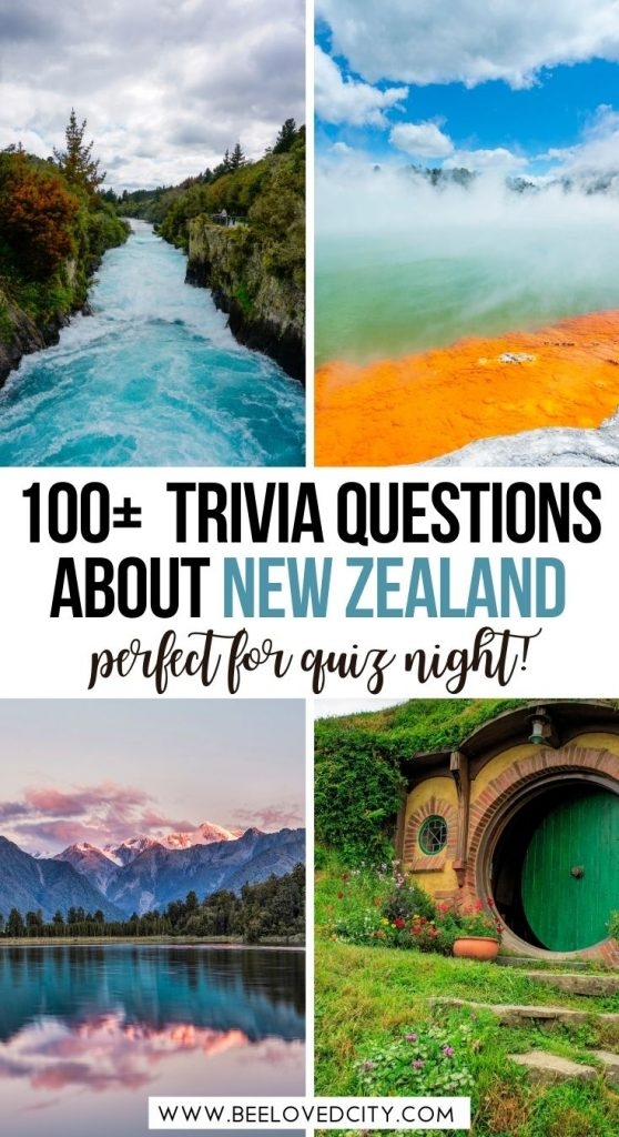 New Zealand quiz questions and answers